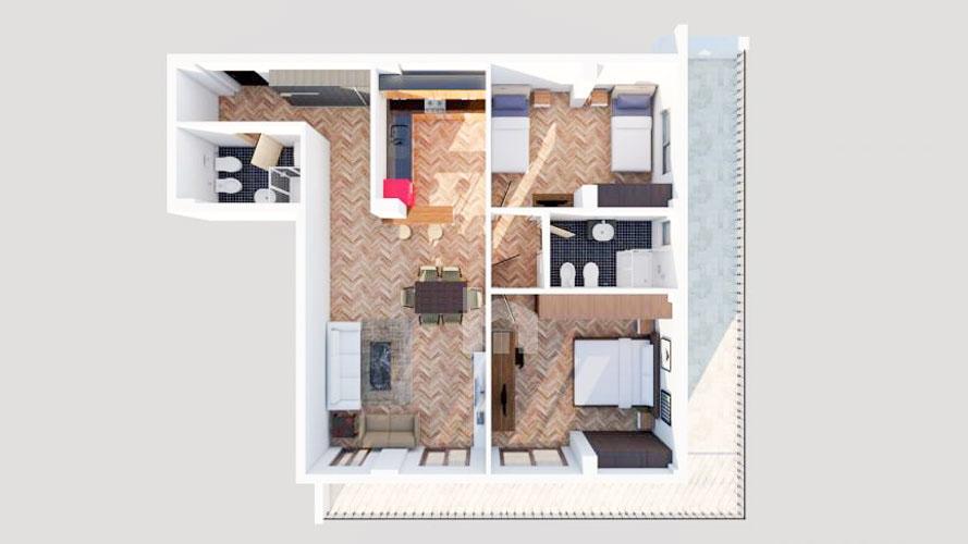 Shiten apartamente te Liqeni Thate Tirane në një godinë të re, 4