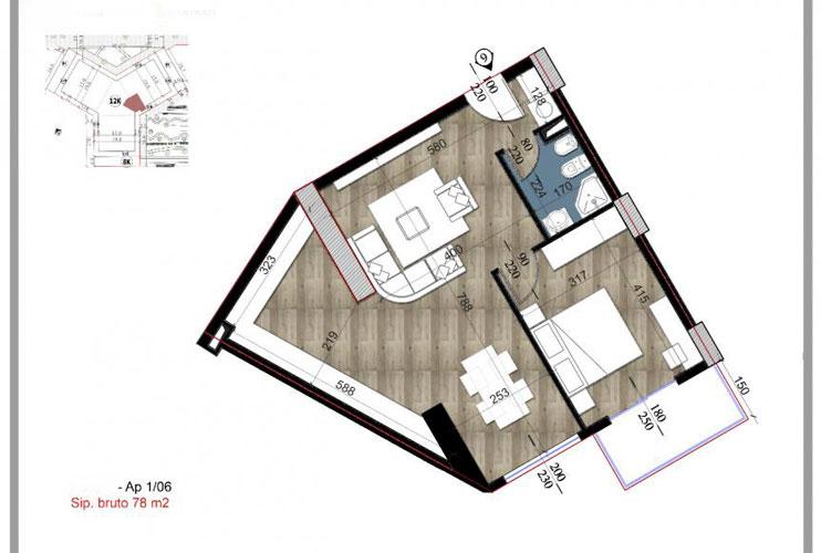 Shitet apartament 1+1 te Fusha Aviacionit Tirane