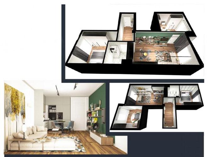 Shitet apartament 2+1 te rruga Siri Kodra Tirane